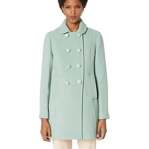 kate spade newyork wool twill double-breasted coat